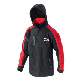 Daiwa Soft Shell Hoody Black/Red