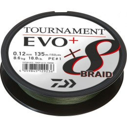 Daiwa Tournament X8 Braid EVO+ Donker Groen