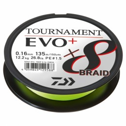 Daiwa Tournament X8 Braid EVO + Chatreuse - gevlochten lijn